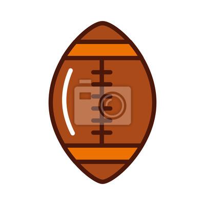 Cuadro Brillantemente fútbol americano bola de dibujos animados vector de diseño  gráfico 07ffcda1401