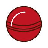 Brillantemente rojo bola de dibujos animados vector de diseño gráfico 64ebc4d05ab