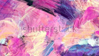 Cuadro Brillantes salpicaduras artísticas. Pintura abstracta color textura. Patrón futurista moderno. Fondo dinámico multicolor. Ilustraciones del fractal para el diseño gráfico creativo.