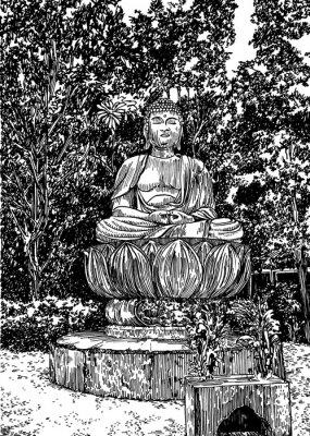 Cuadro Buda de piedra