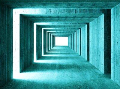 Cuadro buena imagen de túnel concretet 3d abstracto