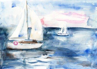 Cuadro Buques en el mar