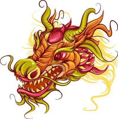 Cuadro Cabeza de dragón chino