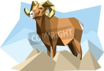 Cuadro Cabra en estilo cubismo