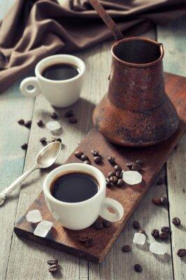 Cuadro Café en tazas