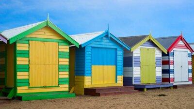 Cuadro Cajas de playa de Brighton, Melbourne, Australia