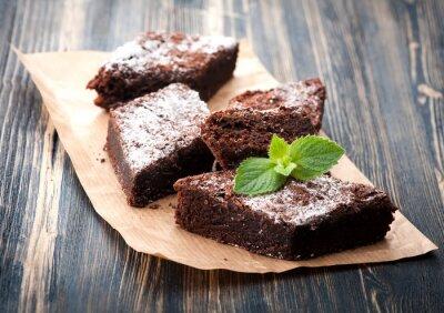 Cuadro Cake Brownie de chocolate