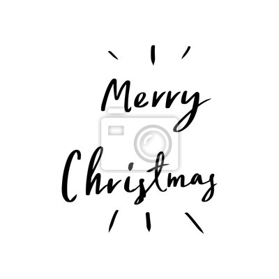 Caligrafía De Letras De La Feliz Navidad Diseño De Tarjeta