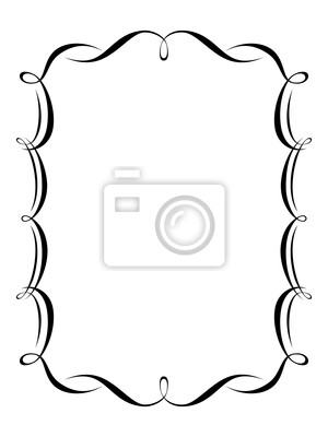 Caligrafía vector caligrafía ornamentales patrón de marco deco ...