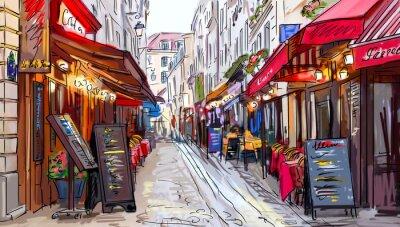 Cuadro Calle de París - ilustración