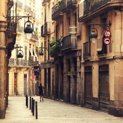 Cuadro Calle en el barrio gótico de Barcelona.