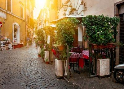 Cuadro Calle vieja en Trastevere, en Roma, Italia