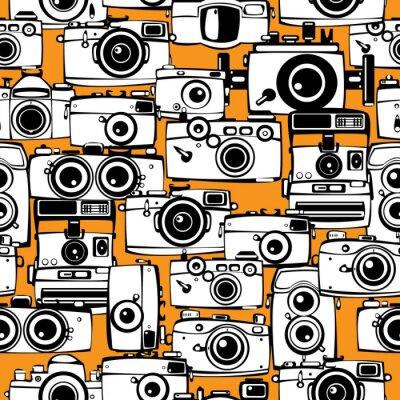 Cuadro cámaras de película sin patrón foto de la vendimia