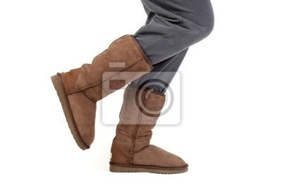 caminando botas altas