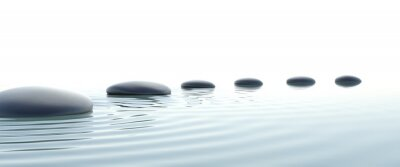 Cuadro Camino del zen de piedras en pantalla ancha