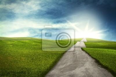 Camino sobre las colinas