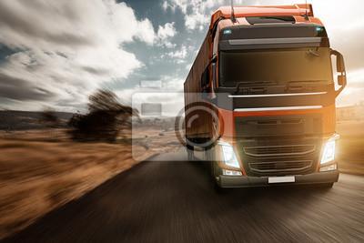 Camión en la carretera nacional