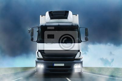 Cuadro Camión en la niebla