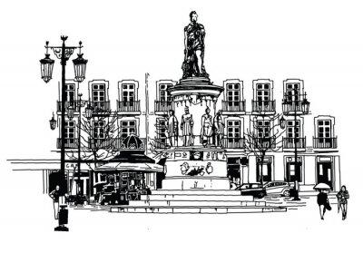 Cuadro Camoes plaza en lisboa