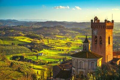 Cuadro Campanario de san miniato de la catedral. Pisa, Toscana Italia Europa.