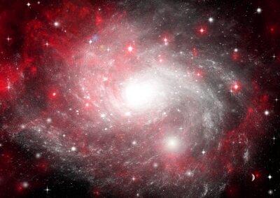 Cuadro Campo de estrella en el espacio y un nebulosas