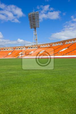 campo de fútbol con la lámpara