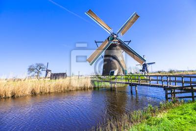 Campo tradicional Holanda - Kinderdijk, Valle del molino de viento