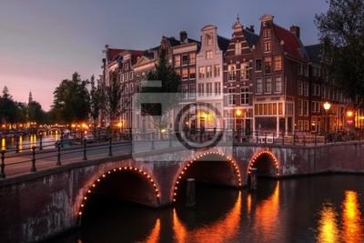 Cuadro Canal en el crepúsculo, Países Bajos