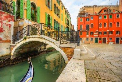 Cuadro Canal en Venecia, Italia