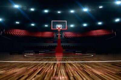 Cuadro Cancha de baloncesto. Arena Sport.