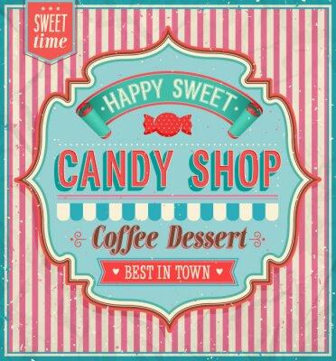 Cuadro Candy shop - ilustración vectorial