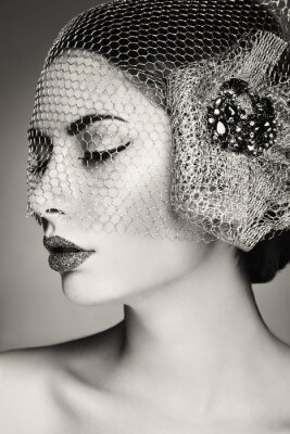 Cuadro Cara de mujer hermosa. Maquillaje perfecto