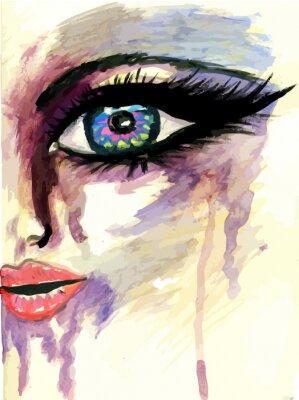 Cuadro Cara estilizada Pintado