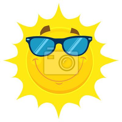 Cuadro Cara Sonriente Amarilla Del Carácter De La Cara Emoji De La Cara Con  Las Gafas a8ceb2cd6080