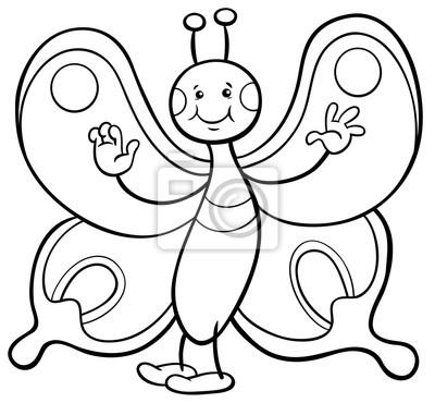 Carácter De Mariposa Para Colorear Pinturas Para La Pared