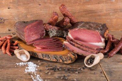 Cuadro Carnes ahumadas y salchichas