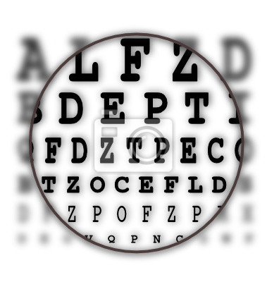 Carta carta de prueba del ojo