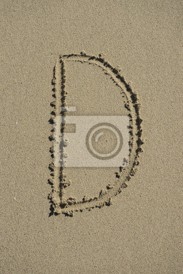 carta de arena D alfabeto