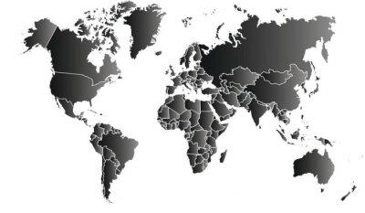 Cuadro carte du monde 06072015