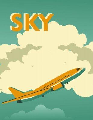 Cuadro Cartel del vintage del cielo