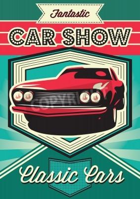 Cuadro Cartel vintage para la exposición de automóviles