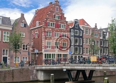Casas típicas de Amsterdam