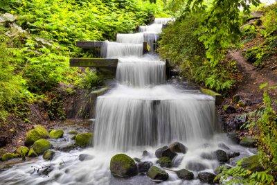 Cuadro Cascada cascada en el parque Planten un Blomen de Hamburgo