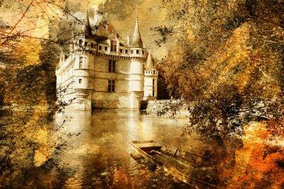 castillo - ilustraciones en estilo de pintura