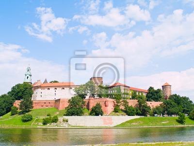 Castillo real en la colina de Wawel, Cracovia, Polonia