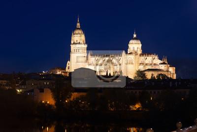 Catedral de Salamanca en la noche