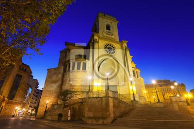 Catedral de San Juan de Albacete en la madrugada