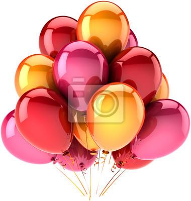 Celebración Globos cumpleaños parte decoración multicolor