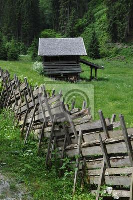 Cerca y cabaña en Hollersbachtal
