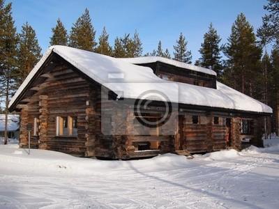 Chalet cubierto de nieve